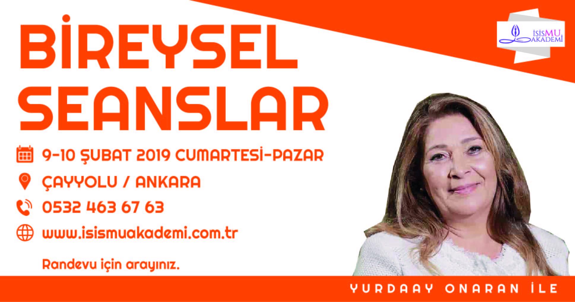 BÜTÜNSEL YAPILANDIRMA ve BİREYSEL SEANSLAR / ANKARA
