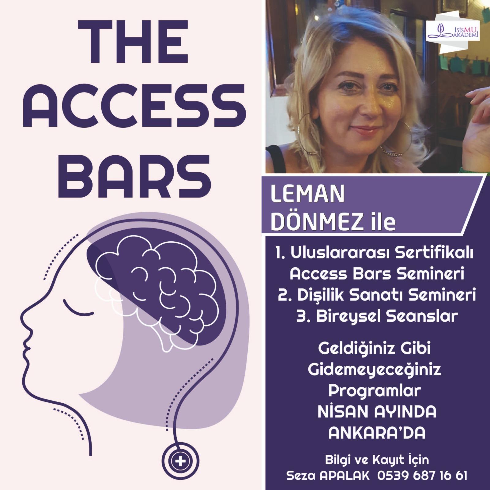 THE ACCESS BARS / NİSAN AYINDA ANKARA'DA