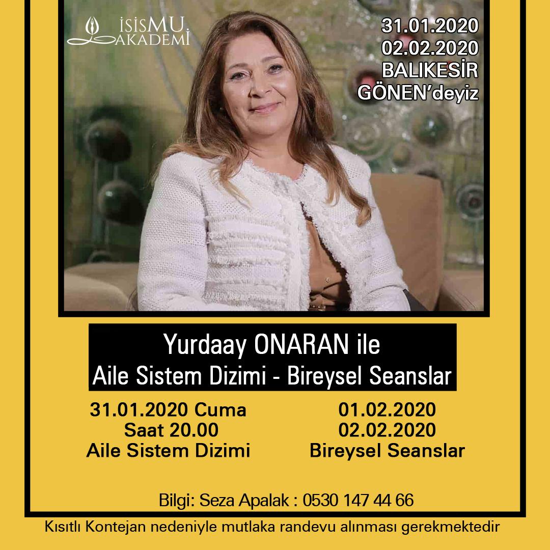 Aile Sistem DİZİMİ GÖNEN /31.01.2020-02.02.2020
