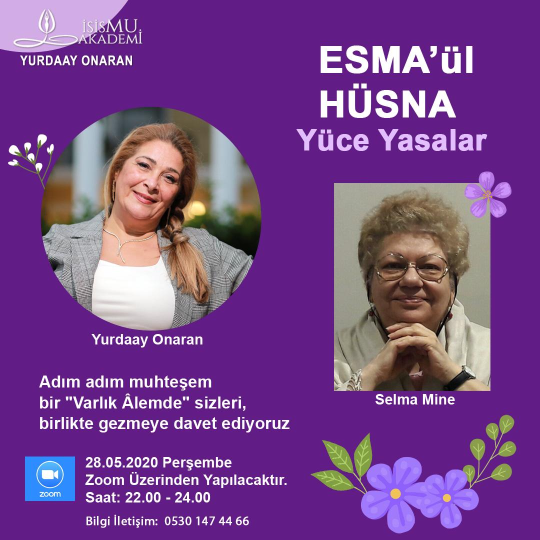 ESMA'ül HÜSNA  / 28.05.2020 PERŞEMBE