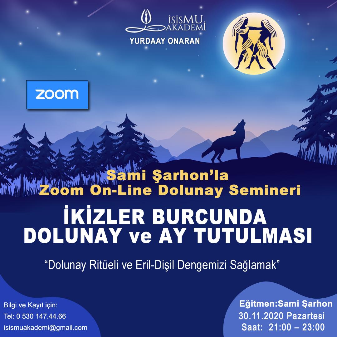 Zoom On-Line Dolunay Semineri -30.11.2020