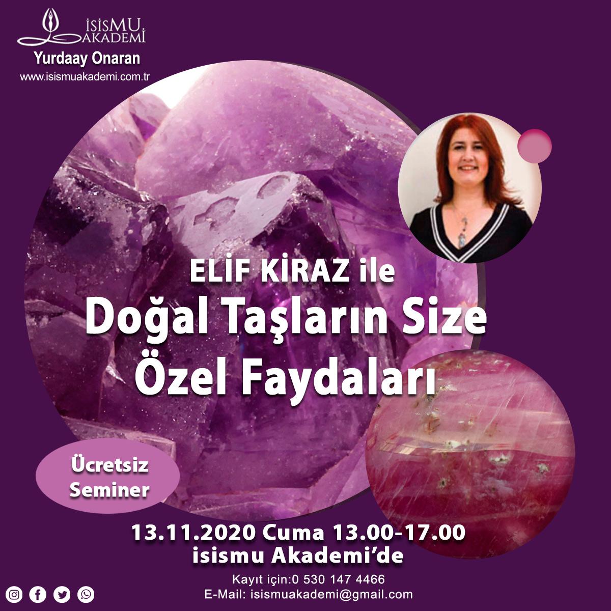 DOĞAL TAŞLARIN SİZE ÖZEL FAYDALARI /13.11.2020