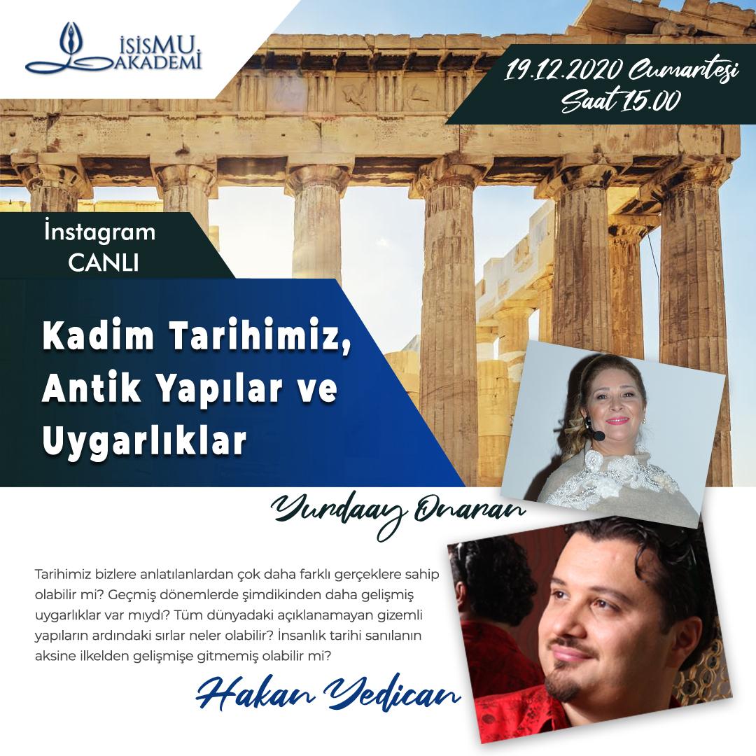 Kadim Tarihimiz, Antik Yapılar ve Uygarlıklar/ 19.11.2020 Cumartesi